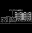 jeddah silhouette skyline saudi arabia - jeddah vector image vector image