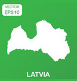 latvia map icon business concept latvia pictogram vector image