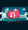 man and woman cartoon cartoon love vector image vector image
