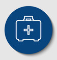 medical first aid box sign white contour vector image vector image