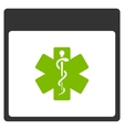 Medical Life Star Calendar Page Flat Icon vector image vector image