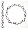 metal chain seamless line and closed in a circle vector image