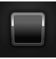 metal web button vector image vector image