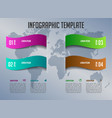modern infographics with colorful ribbons vector image