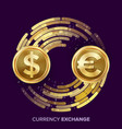 money currency exchange dollar euro vector image vector image
