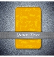 Orange card texture on a metal background with vector image