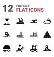 pool icons vector image vector image