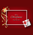 red christmas background with frame decoration vector image vector image