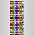 rotating numbers vector image vector image