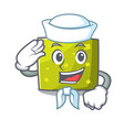 sailor square character cartoon style vector image vector image