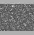 seamless autumn pattern with leaves vector image vector image