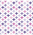 seamless hipster crosses background pattern vector image