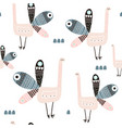 Seamless pattern with creative peacocks creative
