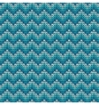 Seamless pattern with knitted chevron ornament vector image