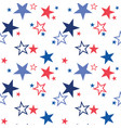 seamless pattern with patriotic stars vector image