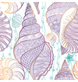 seashell seamless pattern summer resort background vector image vector image