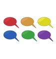 Set of Colored chat bubbles vector image