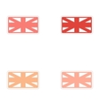 Set of stickers British flag on white background vector image vector image
