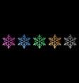 set shiny snowflakes vector image vector image