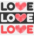 Simple flat LOVE design vector image vector image