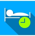 Sleep Time Flat Long Shadow Square Icon vector image vector image