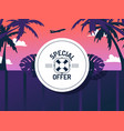 special offer for vacation trip vector image vector image