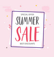 special offer summer sale best discounts backgroun vector image vector image