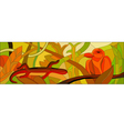 stained glass with wild nature vector image vector image