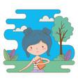 teenager girl cartoon design vector image vector image