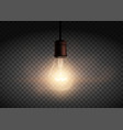 template edison retro light bulb is glowing vector image vector image