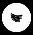 three bananas fruit simple black icon eps10 vector image vector image