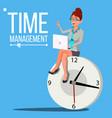 time management woman management vector image
