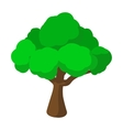 Tree cartoon icon vector image