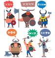 Vikings vector image vector image