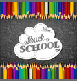 whiteboard with colored pencils and blank paper vector image vector image