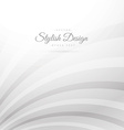 clean white rays in curved style vector image