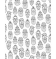monochrome hipster pattern vector image
