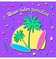 Wave rider paradise - Summer background in style vector image