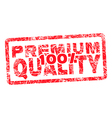 100 premium quality grungy and scratched red stamp vector image vector image