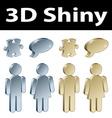3d metallic signs vector image vector image