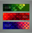 abstract banners set design made with circles vector image vector image