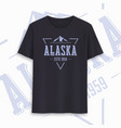 alaska state graphic t-shirt design typography vector image vector image