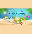 amazing songkran festival summer thailand vector image