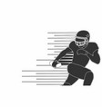 american footbal player silhouette isolated vector image vector image