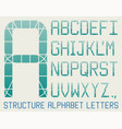 architectural alphabet vector image