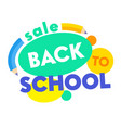 back to school sale banner with colorful title vector image