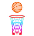 ball and hoop vector image