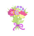 beautiful decorative bouquet vector image