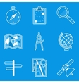 Blueprint icon set Navigation vector image vector image