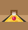 bowling ball and pins flat vector image vector image